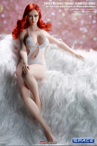 1/6 Scale female super-flexible seamless pale Body with large breast and head sculpt