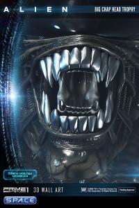 Big Chap Head Trophy 3D Wall Art Open Mouth Version (Alien)