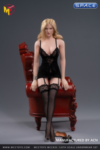 1/6 Scale exquisite underwear large size (black)
