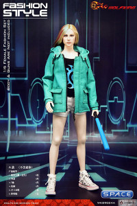 1/6 Scale Female Fashion Character Set with blonde hair Head Sculpt