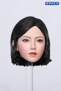 1/6 Scale Pomelo Head Sculpt with Leopard Cheongsam Dress Character Set (grey)