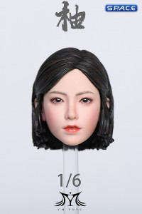 1/6 Scale Pomelo Head Sculpt with Leopard Cheongsam Dress Character Set (red)