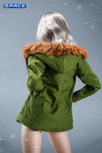 1/6 Scale Winter School Girl Character Set with green Coat