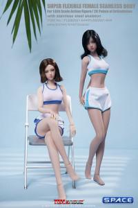1/6 Scale female super-flexible seamless suntan Body with small breast and head sculpt