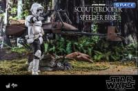 1/6 Scale Scout Trooper and Speeder Bike Movie Masterpiece Set MMS612 (Star Wars)