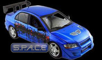 1:18 Scale 2002 Mitsubishi Lancer Evo. VII blue (The Fast and the Furious)