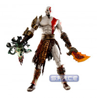 Kratos in Golden Fleece Armor with Medusa Head (God of War)