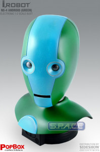 1:2 Scale NS-4 Android green Head Replica (I, Robot)