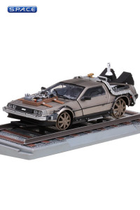 1:18 Die Cast DeLorean Time Machine - Railroad Version (Back to the Future 3)
