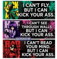 Set of 3 : Bumper Sticker (Kick-Ass)