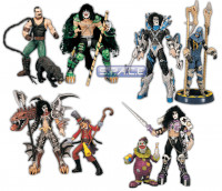 Set of 4 : Psycho Circus 2-Packs (Kiss)