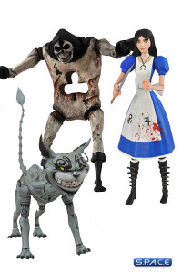 Complete Set of 3: Alice: Madness Returns Series 1 (Alice, Card Guard, Cheshire Cat)