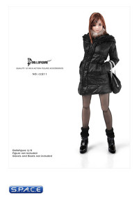 1/6 Scale Female Winter Hoodie Jacket & Accessories Set
