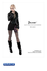 1/6 Scale Female Fox Fur Collar Leather Jacket & Accessories (CC212)