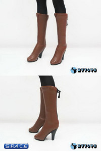1/6 Scale Female Long Boots (Brown)