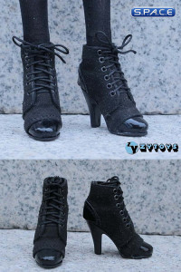 1/6 Scale Female Laced Booties (Black)