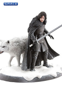 Jon Snow & Ghost Statue (Game of Thrones)