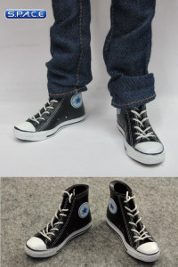 1/6 Scale Female High Cut Sneakers (Black)