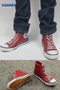 1/6 Scale Female High Cut Sneakers (Red)