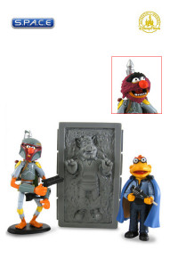 Animal, Link Hogthrob and Scooter as Boba Fett, Han Solo in Carbonite and Lando Calrissian 3-Pack Disney Exclusive