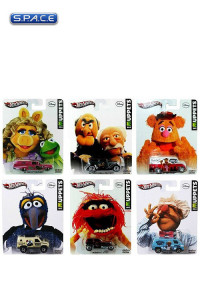 Set of 6: 1:64 Scale The Muppets Hot Wheels 2013