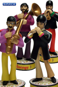 Set of 4: Band Member Shakems Deluxe Premium Motion Statues (The Beatles)