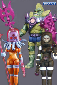 2013 Alpha Phase edition Outer Space Men Wave 6 & Deluxe 2 SDCC 2013 Exclusive