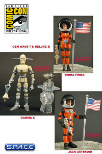 2013 Alpha Phase edition Outer Space Men Wave 7 & Deluxe 3 SDCC 2013 Exclusive
