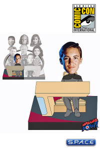 Wesley Build-a-Bridge Deluxe Bobble Head SDCC 2013 Exclusive (Star Trek)