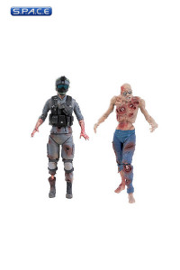 Set of 2: Civilian Zombie and Special Forces Zombie (World War Z Series 1)