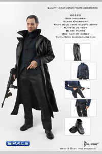 1/6 Scale Leather Overcoat Full Clothing Set