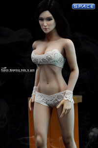 1/6 Scale Seamless Female pale Body - large breast / long black hair