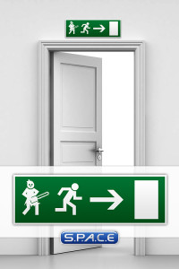 Emergency Exit Sign »Leatherface«