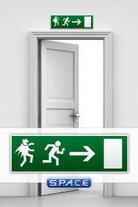 Emergency Exit Sign »Vampire«