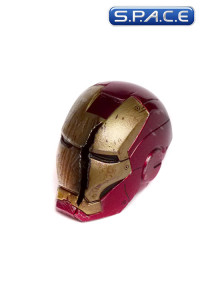 1/6 Scale battle damaged Iron Man Mark VII helmet with LED light-up feature (The Avengers)