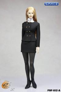 1/6 Scale Female Business Wear Suit Set A (black)
