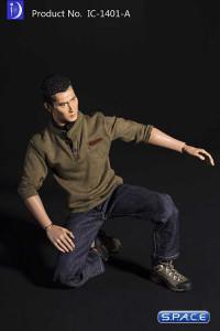 1/6 Scale Shirt & Jeans Set A (olive shirt)