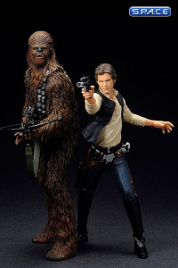 1/10 Scale Han Solo & Chewbacca 2-Pack ARTFX+ (Star Wars)
