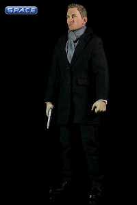1/6 Scale Agent James with Black Overcoat Set